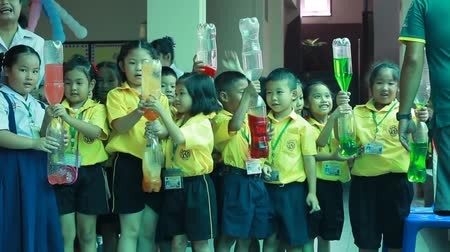 jovial : Activity of teaching primary education. students are learning Science. in Activity science Day.