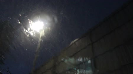 vizyon : parking at night and raining on windshield