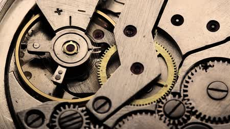 serseri : old clock gear mechanism Stok Video