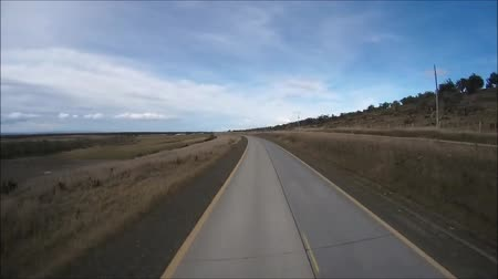 yol kenarı : Travel and journey to Patagonia in Chile Stok Video