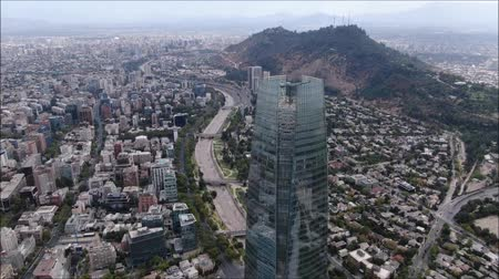 Aerial view of a city and buildings in Chile