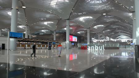 terceiro : Istanbul  Turkey - November 13 2018: New Istanbul Airport Terminal. Third Istanbul Airport