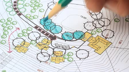 drafter : Landscape Architect Designing on site analysis plan