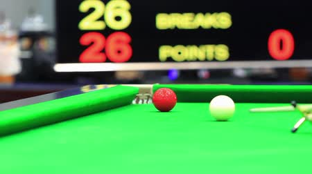 poolbiljart : Snooker concurrentie. Stockvideo