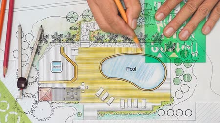 drafter : Landscape Architect Designs Backyard Plan with Pool .