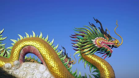 mitolojik : Chinese Dragon with blue sky