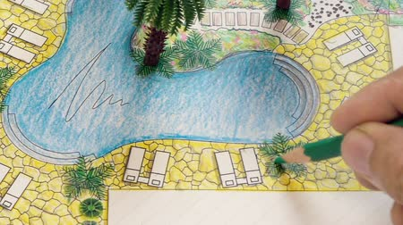 fejleszt : Landscape architect design backyard plan for villa