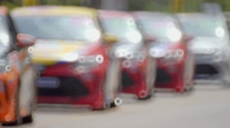 pace : race car warm up running before the start of the race Stock Footage