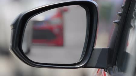 fender : high speed run automobile in side view mirror car