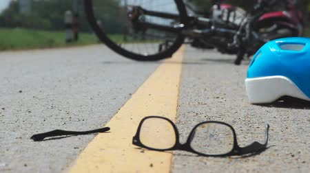 carelessness : Accident motorcycle crash with bicycle on road