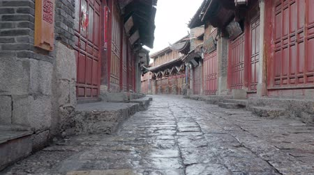 Lijiang old town streets in the morning, Yunnan province,China.