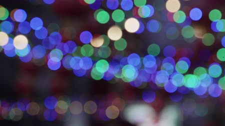 Defocused bokeh dancing light in festival