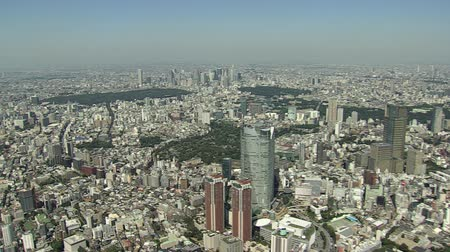 minato : Aerial photography around Roppongi Stock Footage