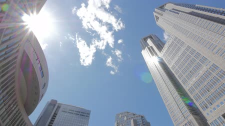 tokyo government : Buildings around Tokyo Metropolitan Government Office and Moving Clouds