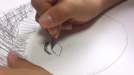 Draw a picture of an eye part Стоковые видеозаписи