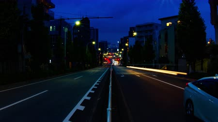 shibuya : Sunset time lapse on the road at Tomigaya deep focus