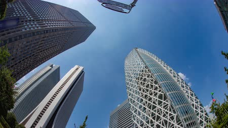 poz : Time lapse at the business buildings in West shinjuku Stok Video
