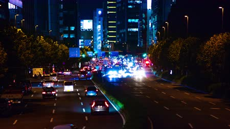 пересечение : Time lapse at night on Aoyama avenue slow shutter