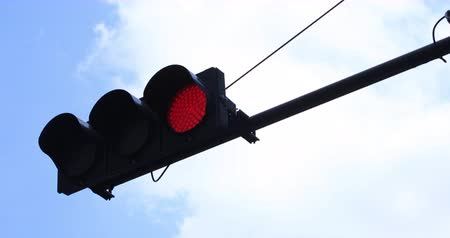 stoplight : Red Stoplight at Ootemachi close shot Stock Footage