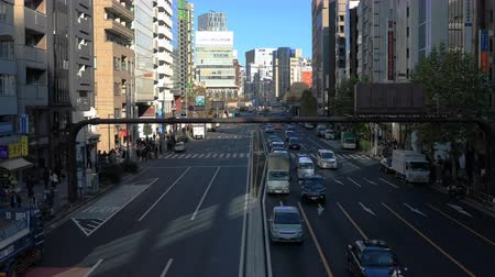 shibuya : Many cars at the street near the office building in Shibuya Tokyo Stock Footage
