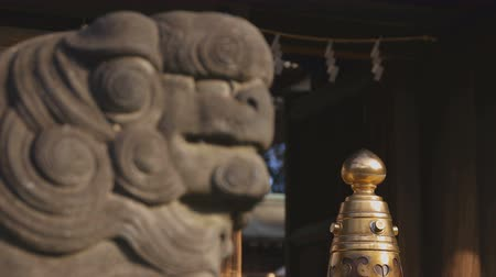 lew : Statue guardian dog KOMAINU at Igusa shrine in Tokyo