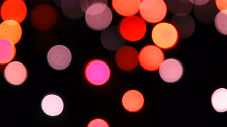 크리스마스 계절 : Colorful camera bokeh defocusecd at night