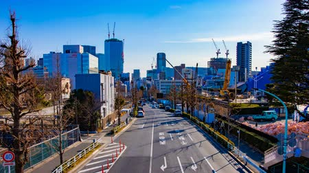 otopark : A timelapse of the street near the underconstruction at the business town in Tokyo Stok Video