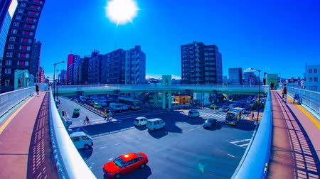 tilt : A timelapse of the city crossing at the downtown in Tokyo daytime tilt