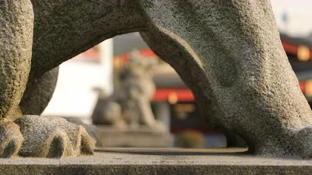lion : Statue guardian dog at Kanda shrine in Tokyo