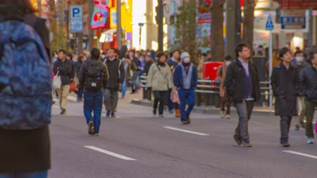 esposizione : A timelapse of the downtown street at the electric town in Akihabara Tokyo daytime