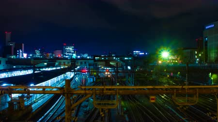 esposizione : A timelapse of the train at Ueno station at night wide shot
