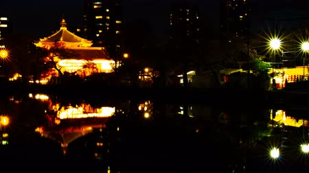 awesome : A timelapse of sunset near the pond at the traditional park in Ueno Tokyo