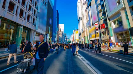 departamento : A timelapse of the city street at the downtown in Ginza Tokyo daytime wide shot