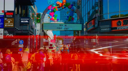 esposizione : A timelapse of the Takeshita street in Harajuku Tokyo daytime wide shot