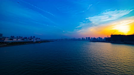 urban scenics : A timelapse of sunset near the bayarea in Ariake Tokyo