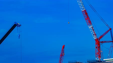 high rises : A timelapse of cranes at the under construction in Tokyo
