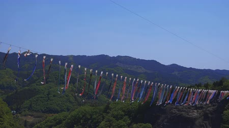 ストリーマー : Carp streamers at Ryujin big bridge in Ibaraki daytime sunny