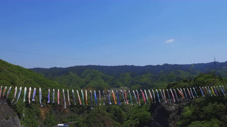 стример : Carp streamers at Ryujin big bridge in Ibaraki daytime sunny