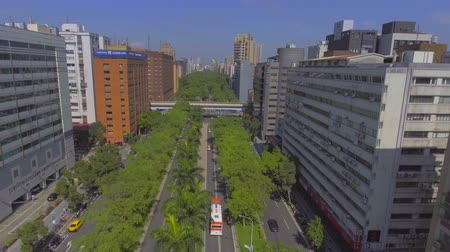 follow shot : Taipei transportation drone view Stock Footage