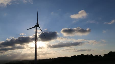 renovável : Wind Turbine Silhouette Create Renewable Energy