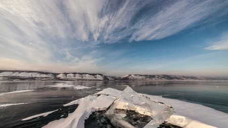 Антарктика : Time lapse of Ice hummocks on Baikal