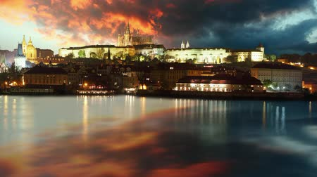 zamek : Prague castle at sunrise - time lapse Wideo
