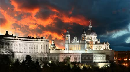 capital cities : Madrid, Almudena Cathedral and Royal Palace - Spain