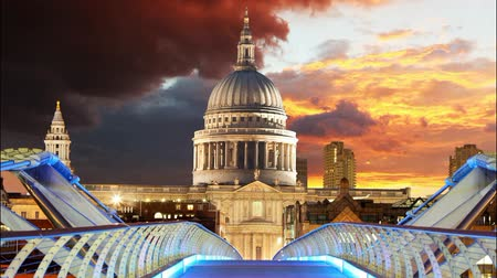 catedral : London - St Paul Cathedral, UK, time lapse