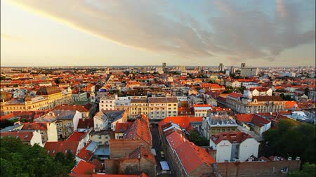 stare miasto : Zagreb cityspace at sunset - time lapse