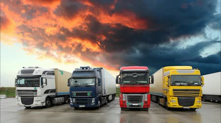 trucks : Truck - Freight transportation, Time lapse