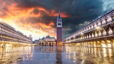 wenecja : San Marco square, Venice Italy - Time lapse Wideo