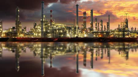 elektrownia : Gas refinery, Oil industry - Motion Time lapse