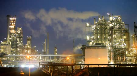 Oil refinery at night, Industry