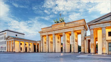 gates : Berlin - Brandenburg Gate, Time lapse, Germany